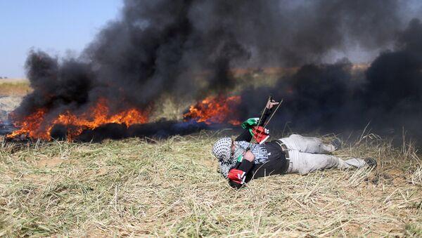 Protestas en Franja de Gaza - Sputnik Mundo