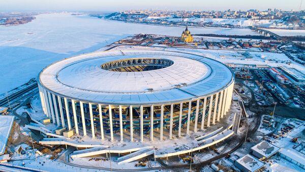 Estadio de Nizhni Nóvgorod en construcción - Sputnik Mundo