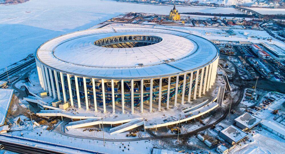 Estadio de Nizhni Nóvgorod en construcción