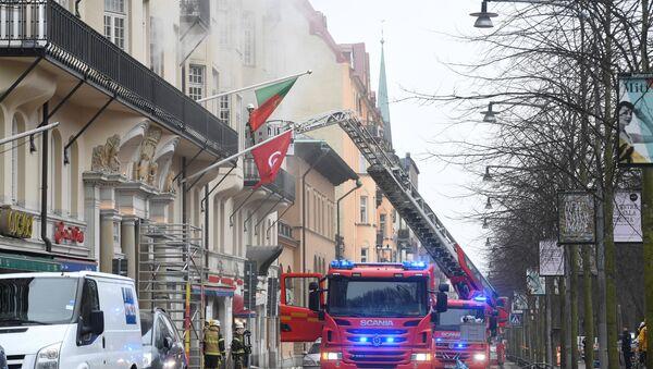 Incendio en Estocolmo, Suecia, el 4 de abril de 2018 - Sputnik Mundo