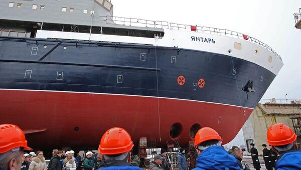 La botadura del buque oceanográfico Yantar, archivo - Sputnik Mundo