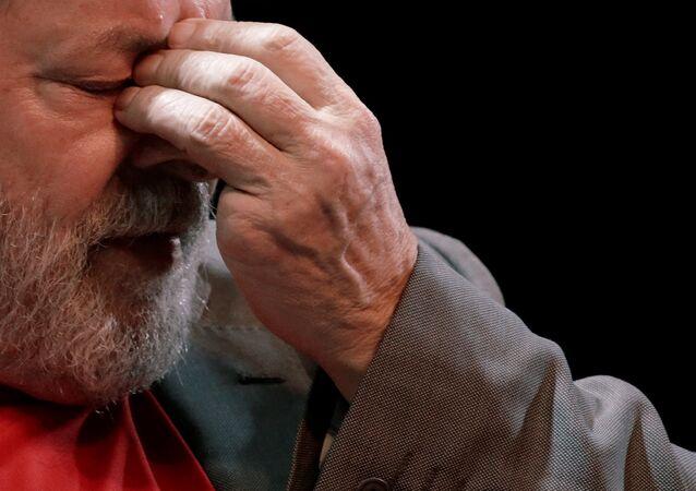 Luiz Inácio Lula da Silva en un acto político en Río de Janeiro el 2 de abril