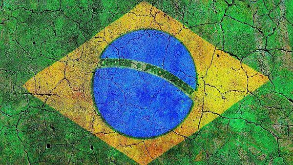Grafiti de la bandera de Brasil - Sputnik Mundo