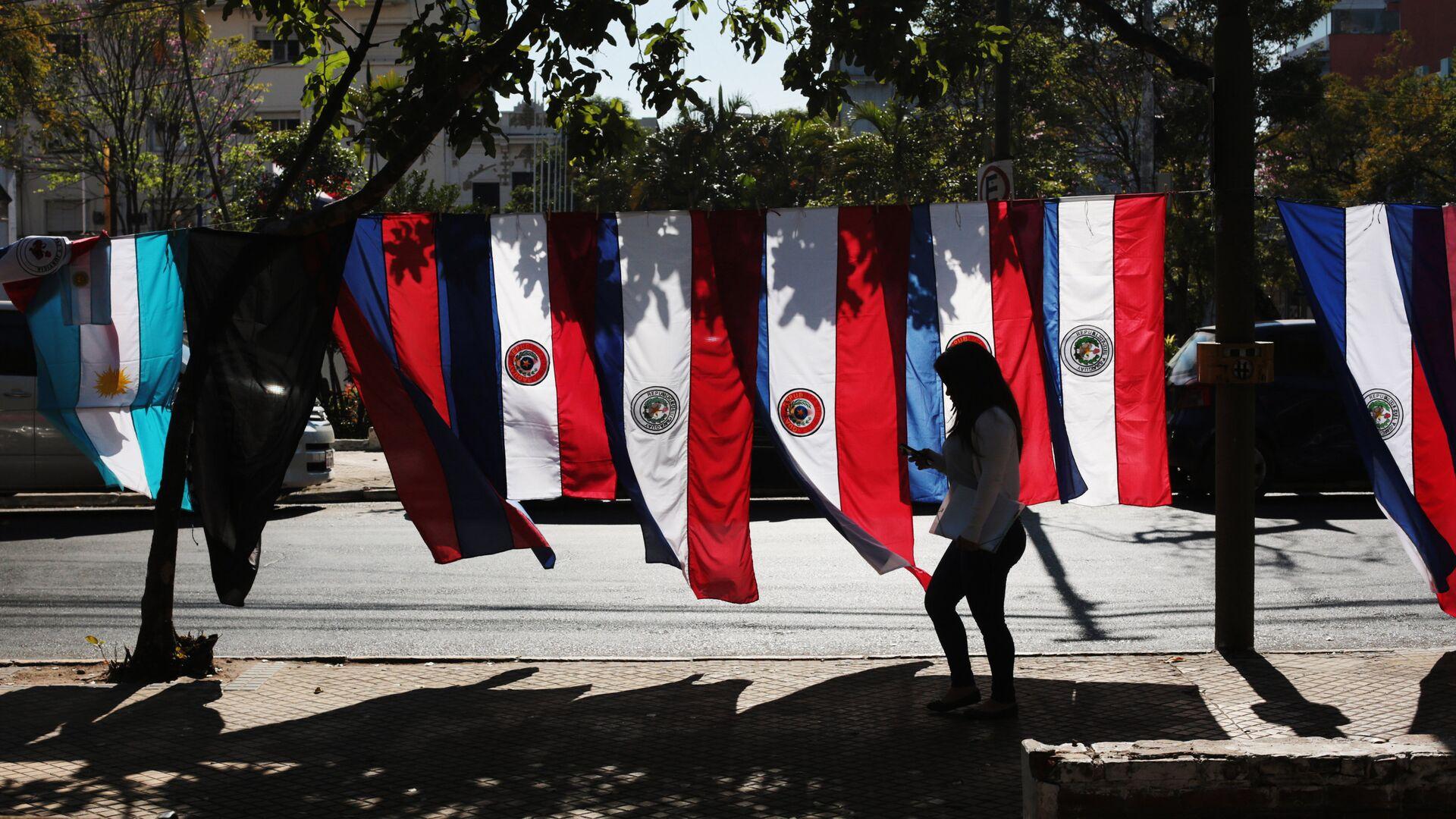 Banderas de Paraguay en Asunción - Sputnik Mundo, 1920, 18.06.2021