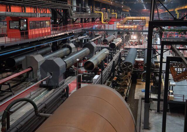 La construcción del gasoducto Nord Stream 2 (archivo)