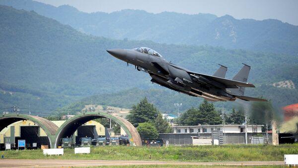 Avión de combate F-15K - Sputnik Mundo