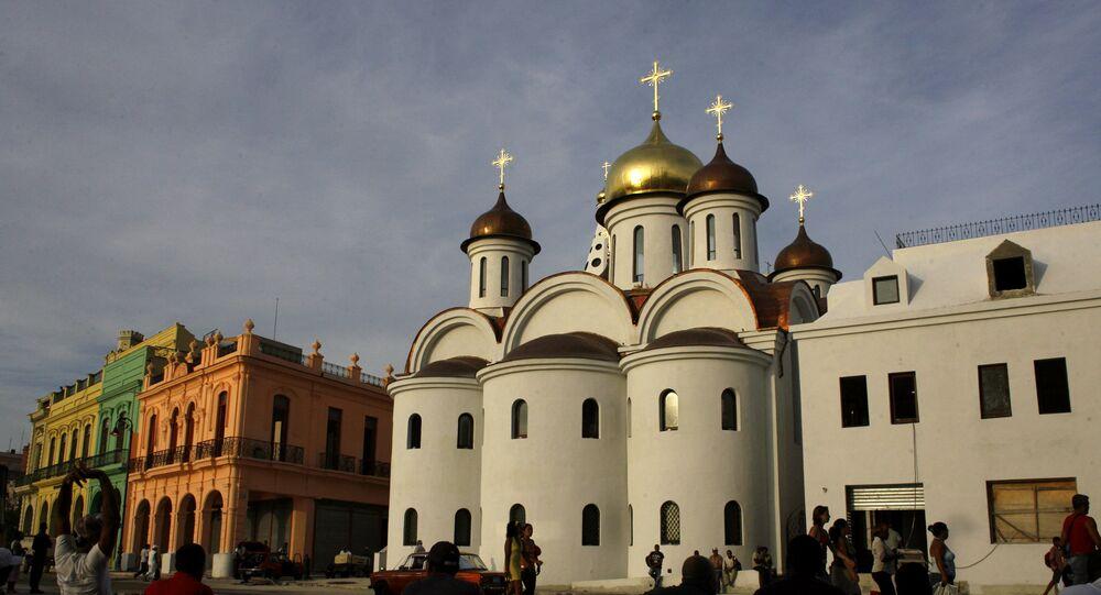 Una catedral de la Iglesia Ortodoxa rusa en La Habana, Cuba (archivo)