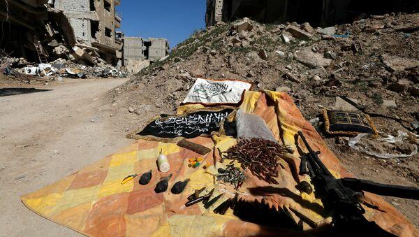 Las municiones de los terroristas en Siria (archivo) - Sputnik Mundo