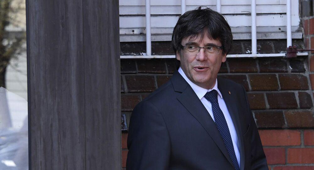 Carles Puigdemont, ex presidente de Cataluña