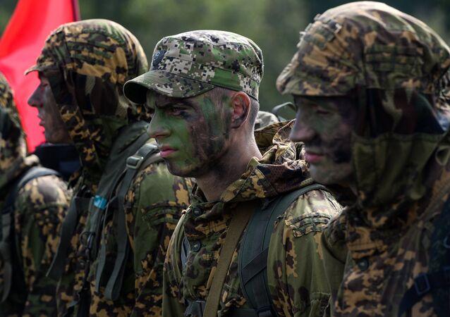 Militares bielorrusos, foto de archivo