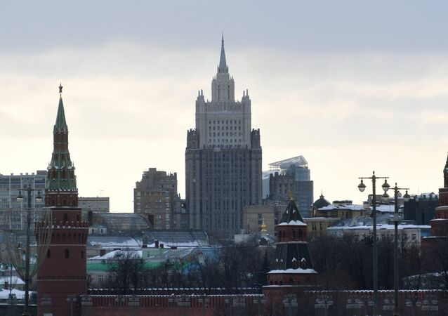 El edificio del Ministerio de Asuntos Exteriores de Rusia (archivo)