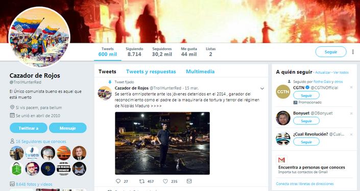 Cazador de Rojos en Twitter