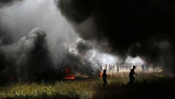 Protestas de los palestinos de Gaza en la frontera con Israel - Sputnik Mundo