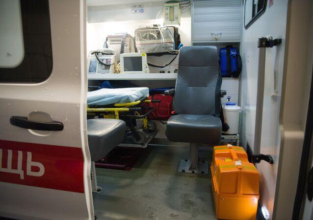 Una ambulancia rusa