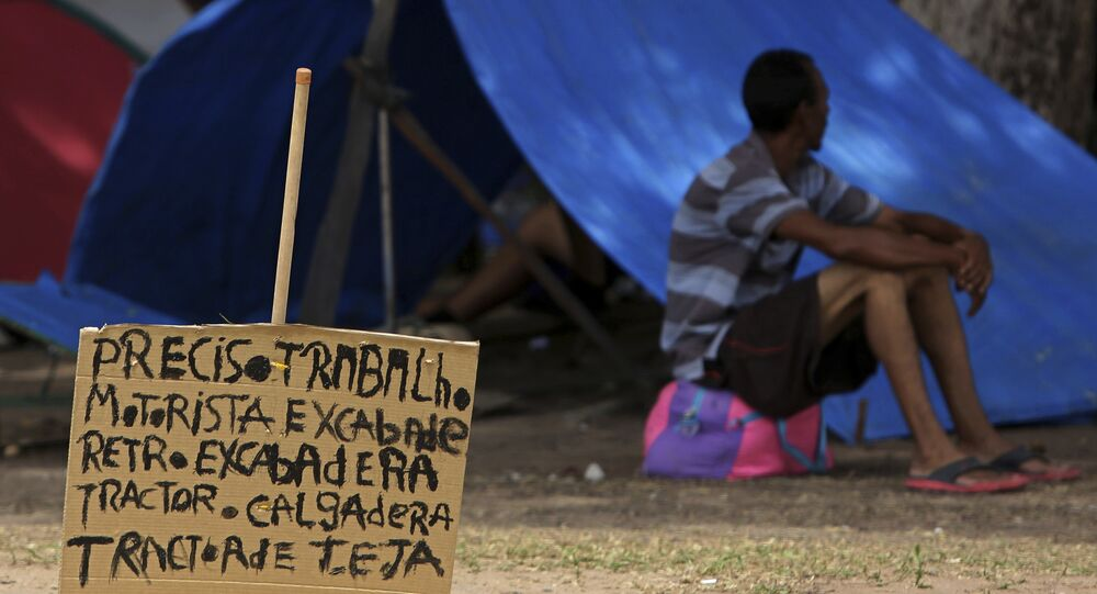 Un migrante venezolano en Brasil (archivo)
