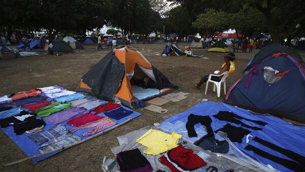Campo de refugiados venezolanos en Brasil - Sputnik Mundo