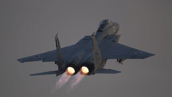 Un F-15 israelí, foto de archivo - Sputnik Mundo
