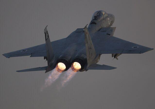 Un F-15 israelí, foto de archivo