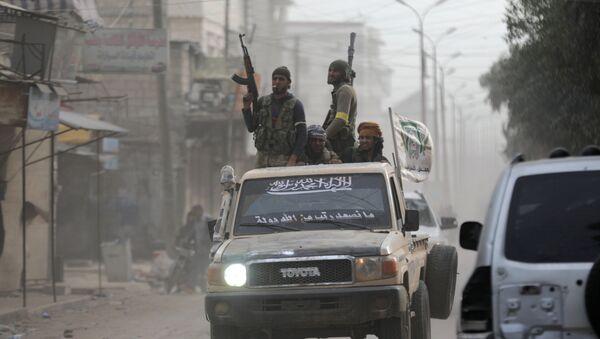 Los combatientes del Ejército Libre Sirio (archivo) - Sputnik Mundo