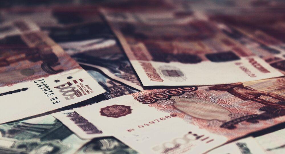Billetes de cinco mil rublos