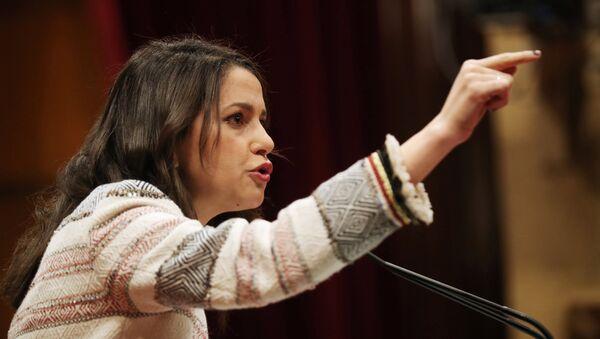 Inés Arrimadas, la líder de la oposición en el Parlamento catalán del partido Ciudadanos - Sputnik Mundo