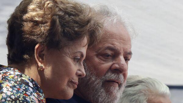 La expresidenta de Brasil Dilma Rousseff y el expresidente Luiz Inacio Lula da Silva  - Sputnik Mundo