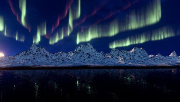 Aurora boreal, foto de archivo - Sputnik Mundo