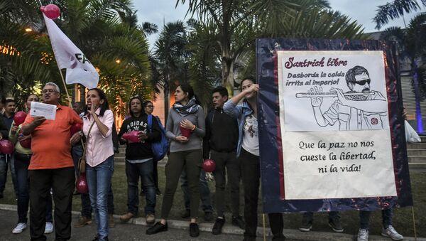 Los seguidores de FARC protestan contra la detención de Santrich - Sputnik Mundo