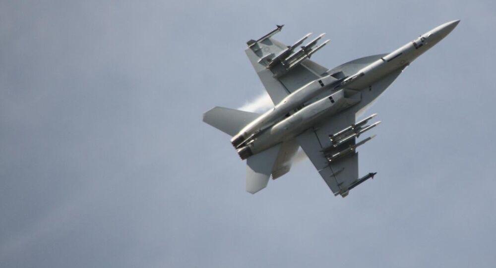 Un caza F/A-18 (imagen referencial)