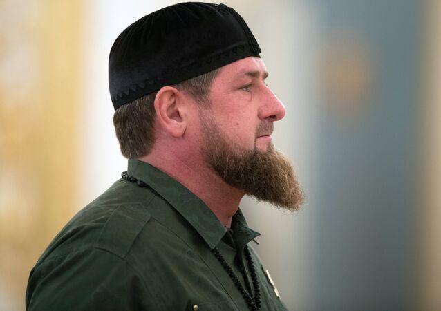 Ramzán Kadírov, dirigente de Chechenia (archivo)