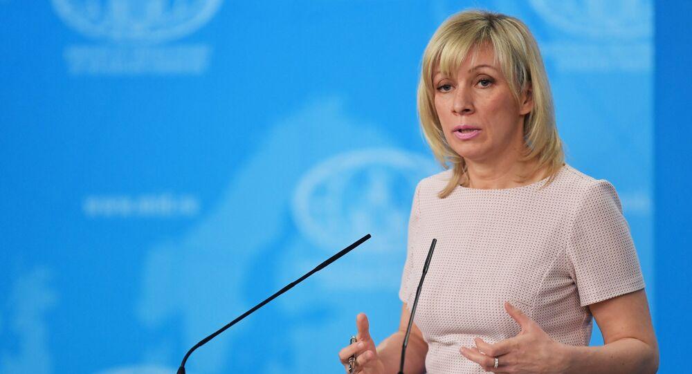 María Zajárova, la portavoz del Ministerio de Exteriores de Rusia (archivo)