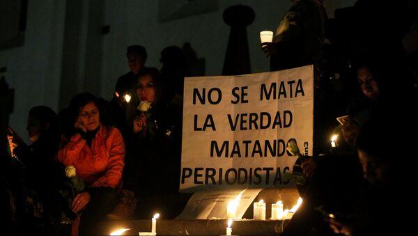 Homenaje a los periodistas asesinados en la frontera entre Ecuador y Colombia (archivo) - Sputnik Mundo