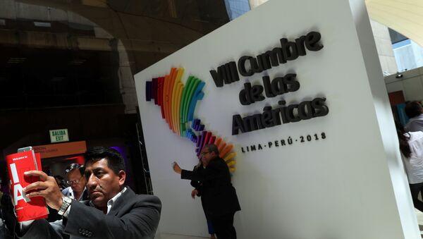La VIII Cumbre de las Américas en Lima, Perú - Sputnik Mundo