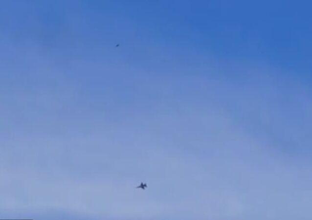 Filmado un objeto misterioso sobre la base estadounidense Área 51