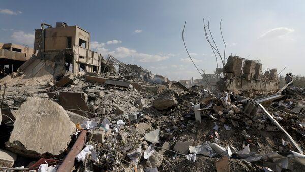 Consecuencias del bombardeo en Damasco, Siria - Sputnik Mundo