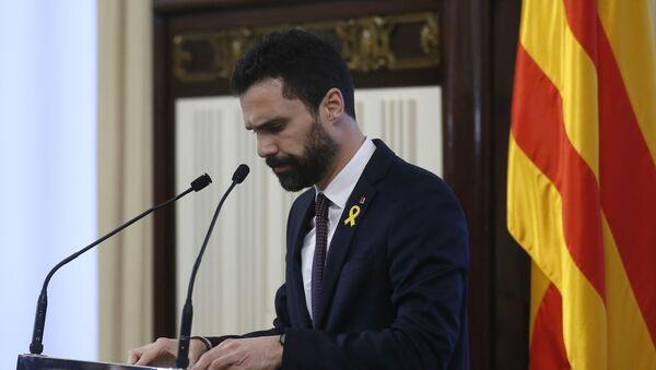 Roger Torrent, el presidente del Parlamento de Cataluña - Sputnik Mundo