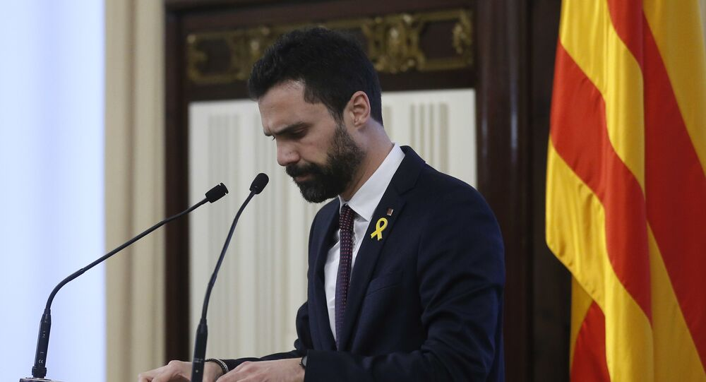 Roger Torrent, el presidente del Parlamento de Cataluña (archivo)