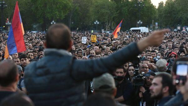 Protestas en Ereván, Armenia (archivo) - Sputnik Mundo