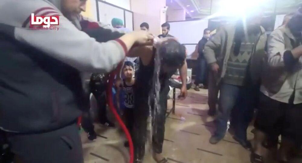Captura de pantalla del vídeo del supuesto ataque químico en Duma, Siria