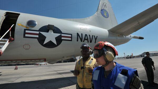 Nave de la Marina de EEUU en el aeródromo de Sigonella (Italia) - Sputnik Mundo