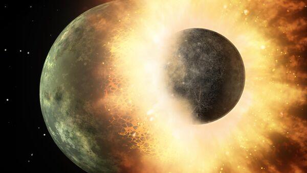 Colisión de planetas (imagen referencial) - Sputnik Mundo