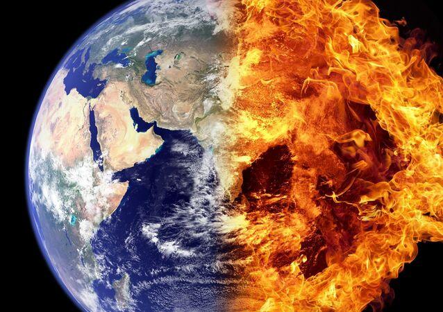 La Tierra en llamas (imagen referencial)