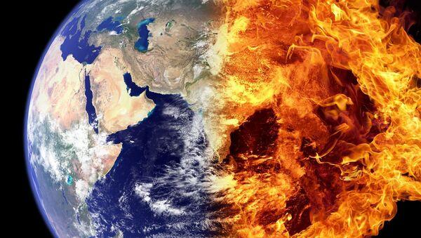 La Tierra en llamas (imagen referencial) - Sputnik Mundo