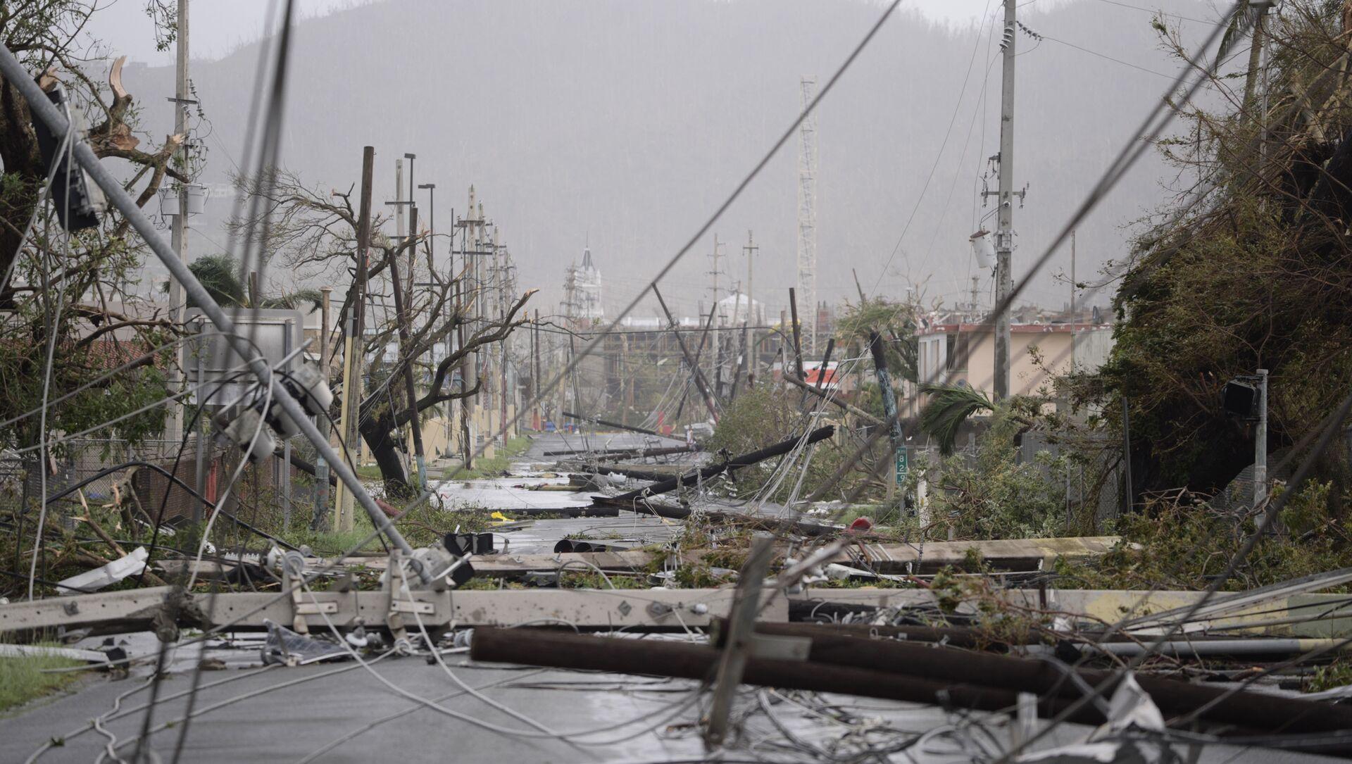 Las consecuencias del huracán María en Puerto Rico (archivo) - Sputnik Mundo, 1920, 02.02.2021