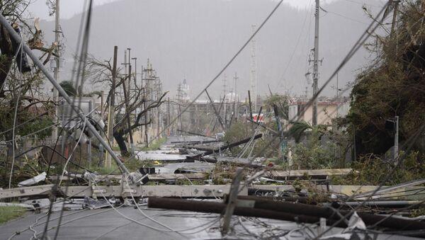 Las consecuencias del huracán María en Puerto Rico (archivo) - Sputnik Mundo