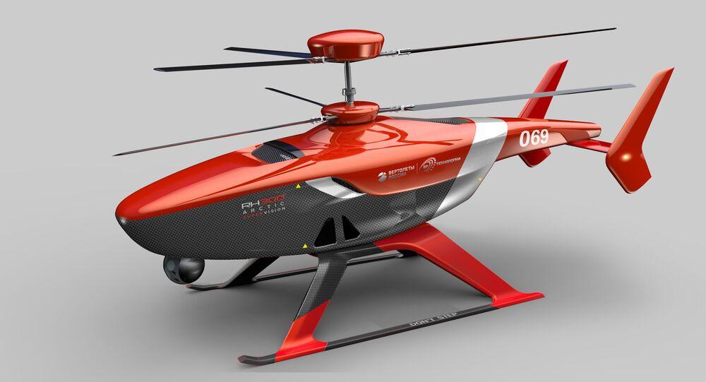 Helicóptero no tripulado VRT300 (imagen gráfico)