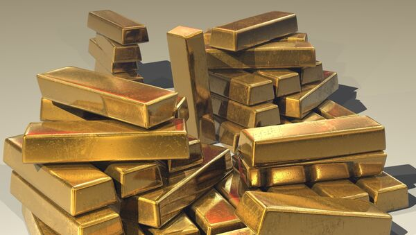 Lingotes de oro, imagen referencial - Sputnik Mundo