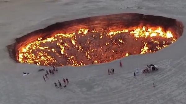 La puerta del infierno: el increíble pozo que lleva ardiendo sin parar los últimos 47 años - Sputnik Mundo