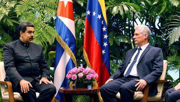 El presidente de Venezuela, Nicolás Maduro, y su homólogo cubano, Miguel Díaz-Canel - Sputnik Mundo