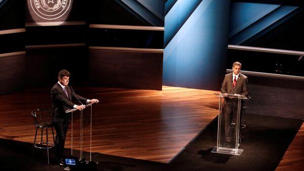 Los candidatos presidenciales paraguayos Mario Abdo Benítez y Efraín Alegre - Sputnik Mundo